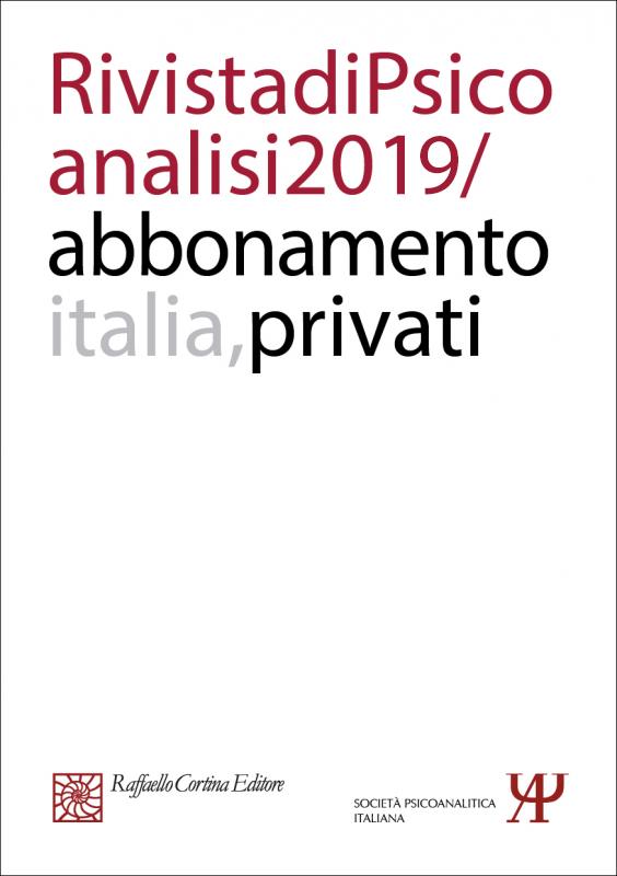 Abbonamento Rivista di psicoanalisi 2019 - Privati Italia