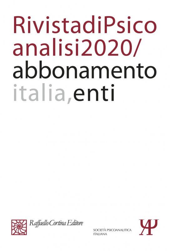 Abbonamento Rivista di psicoanalisi 2020 - Enti Italia