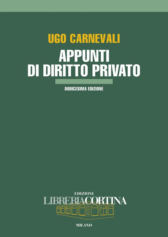 Appunti di diritto privato