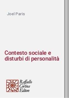 Contesto sociale e disturbi di personalità