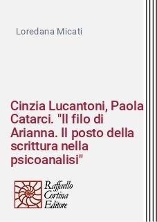 Cinzia Lucantoni, Paola Catarci.