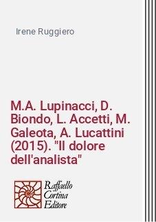 M.A. Lupinacci, D. Biondo, L. Accetti, M. Galeota, A. Lucattini (2015).